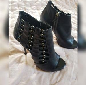 Giuseppe Zanotti Black Cage Heels Size 8 1/2